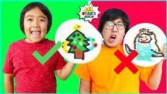 PANCAKE ART CHALLENGE Christmas Edition! Learn how to do DIY Pancake Art!!