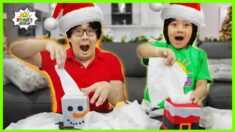 Kids Minute to win it games Christmas Edition with Ryan vs Daddy!!!