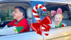 Nastya and Family drive-thru Christmas trip
