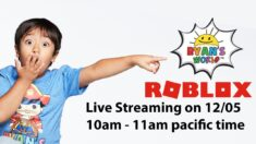 Ryan's World in Roblox Live Streaming Event