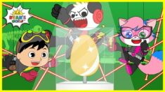 Super Spy Kids with Ryan and Combo Panda for the Golden Egg! |Cartoon animation for Kids!