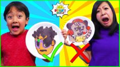 Pancake Art Challenge Ryan vs Mommy! Learn to Make Ryan's World DIY Pancake Art 1 hr kids  ...