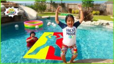 Ryan jumping through impossible Shape Challenge and more 1 hour kids activities!