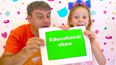 Nastya and an educational show with Dad
