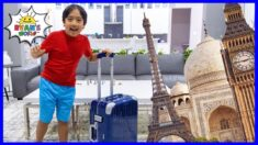 Ryan wants to Travel Around the World and visits famous Landmarks!!