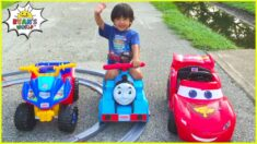 Ryan's Playground adventure with Power Wheels and more!!