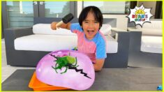 Giant Ice Balloon Melting Animal Easy DIY Science Experiment for kids with Ryan!