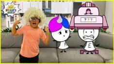 Ryan's New Hairstyle with Funny EK Doodles 1 hr kids video!!!