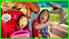 Ryan's T-REX Dinosaur In Real Life Drive Thru Adventure!!!