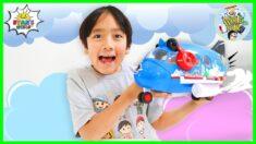 Ryan's World Combo Panda Airplane around the world!!!