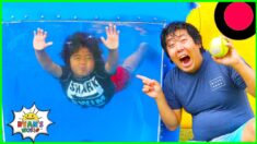 Water DUNK TANK Challenge with 1 hr family fun activities!