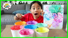 DIY Bubble Painting Art for Kids with Ryan!