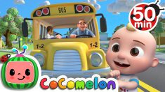 Wheels on the Bus (School Version)  + More Nursery Rhymes & Kids Songs – CoComelon