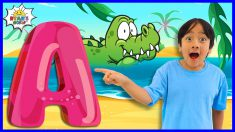 Learn ABC Alphabets Letters and Animals facts for kids with Ryan!