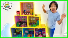 Ryan Pretend Play with Giant Doll House Family!!