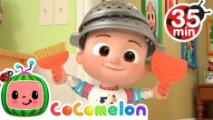 Clean Up Song (Home Edition) + More Nursery Rhymes & Kids Songs – CoComelon