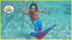 Ryan as a mermaid with Family!!