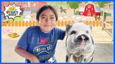 Ryan made a new pig friend a the farm!!