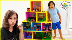 Ryan's Giant Doll House Adventure with Mommy and more 1hr kids Video!