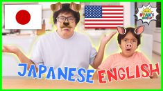 Animal Sounds In English vs Japanese with Ryan and Daddy