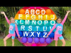 Nastya and Eva are learning the Summer Alphabet