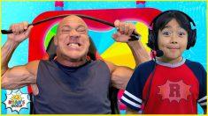 Ryan meets Super Strong Wrestler on Ryan's Mystery Playdate Command Center!