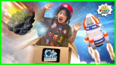Ryan blasted off into Space Pretend Play!