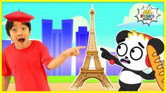 The Eiffel Tower Famous Landmark  | educational for Kids with Ryan's World