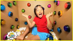 100 Buttons Challenge but only 1 let you escape…and more 1hr kids video!