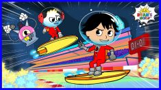 Astronaut Ryan Space Race with Combo Panda Animation for kids!