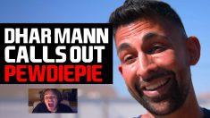 Dhar mann Calls Out Pewdiepie