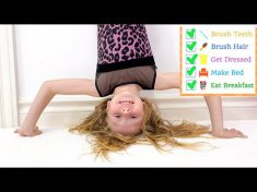 Nastya learns responsibility using a to-do list