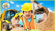 Ryan learns about Construction Vehicles for Kids