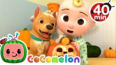 Peek-a-BOO Song Halloween Edition + More Nursery Rhymes & Kids Songs – CoComelon