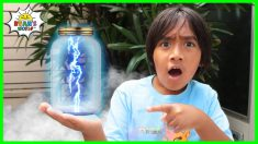 How to Make Lightning In a Bottle DIY Science Experiments for kids!