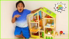 Ryan's Giant Doll Playhouse Adventure with 1hr kids video!