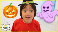 Ryan's Halloween Funny Stories and Challenges for kids!